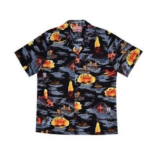 Men's Ring Of Fire Camp Shirt - Short Sleeve Button Down