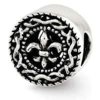 Sterling Silver Reflections Fleur de lis Bead (4mm Diameter Hole)