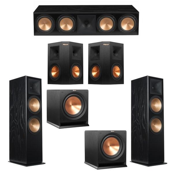 Klipsch 5.2 Black Ash System with 2 RF-7III Floorstanding Speakers, 1 RC-64III Center Speaker, 2 Klipsch RP-250S Surround Speake