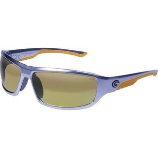 Gargoyles Prevail Polarized Sunglasses Matte Silver Frame/Brown w/ Orange Mirror