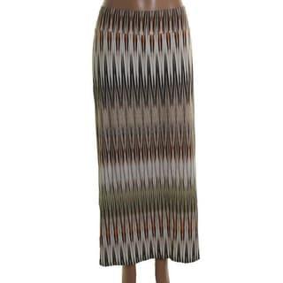 Karen Kane Womens Plus Jersey Printed Maxi Skirt - 2X