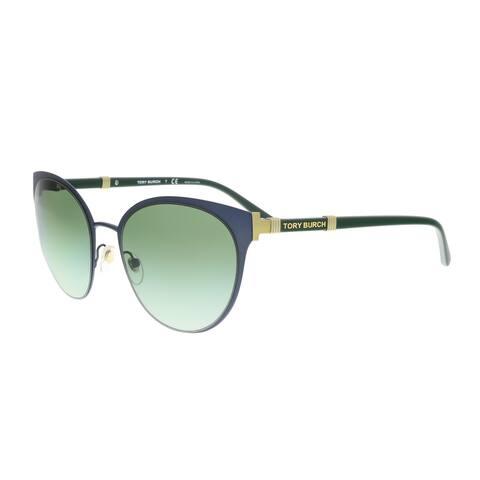 f0f1d60817dd6 Tory Burch TY6058 32448E Navy Cat eye Sunglasses - 55-19-135
