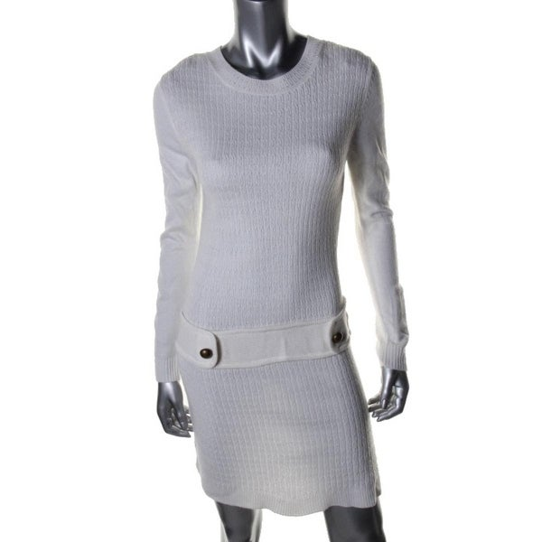 BCX Womens Sweaterdress Knit Long Sleeves - l