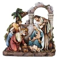"8.5"" Joseph's Studio Religious Christmas Nativity Scene Holy Family Figures - brown"