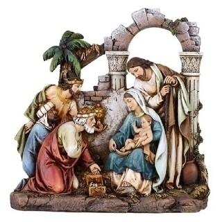 8.5 Joseph's Studio Religious Christmas Nativity Scene Holy Family Figures - brown