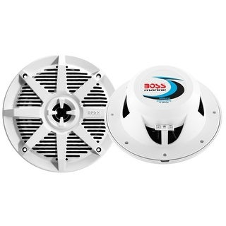 Boss Audio 2-Way Marine Full Range Speaker - Pair White Speaker