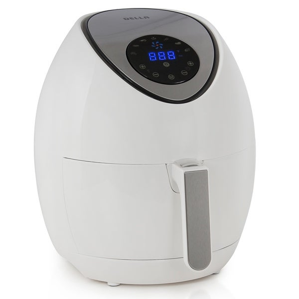 Della Electric Air Fryer with Touch Screen Technology, Detachable Basket - 3.2 QT, 1400W, White