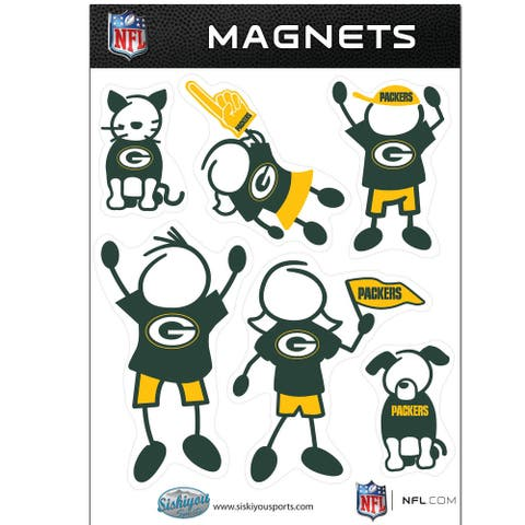 NFL Green Bay Packers Family Magnet Set - Multi