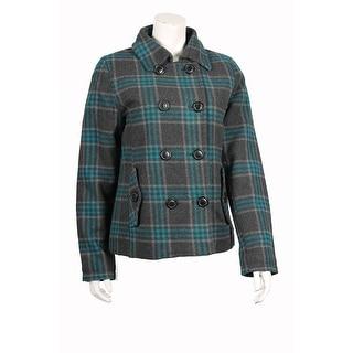 Westwind Junior Wool-Blend Plaid Coat