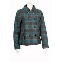 Westwind Junior Wool-Blend Plaid Coat