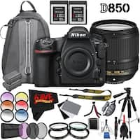 Nikon D850 DSLR Camera (Body Only) 1585 International Model + Nikon AF-S DX NIKKOR 18-140mm f/3.5-5.6G ED VR Lens 2213 Bundle