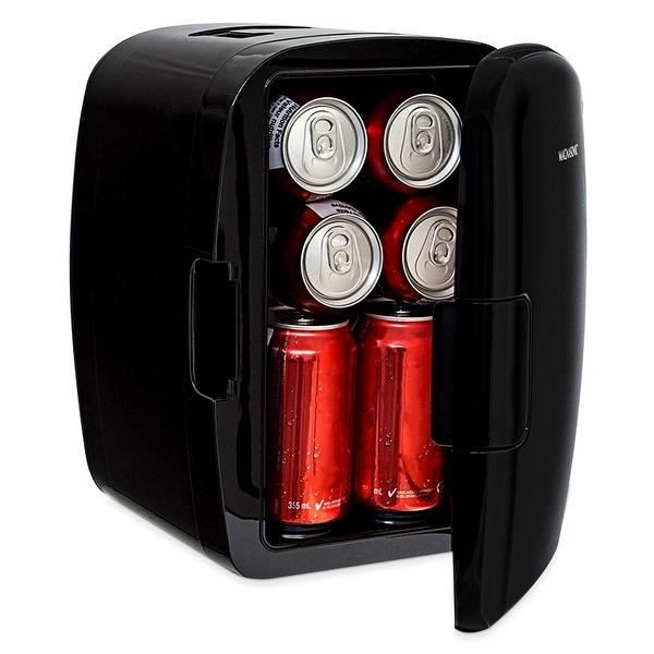 Magnasonic Portable 8 Can Mini Fridge Cooler & Warmer, 5L Capacity, 110V & 12V AC/DC Power for Home, Office, Car & Boat