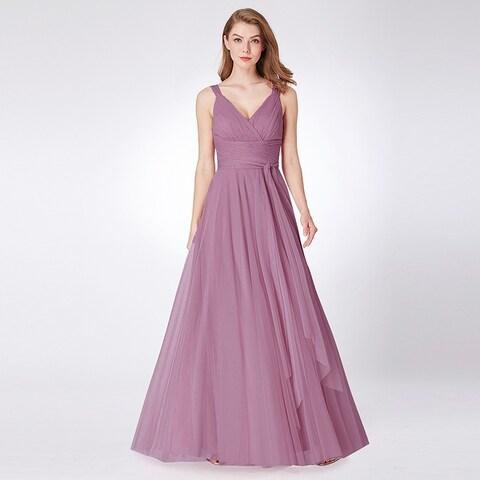 Ever-Pretty Womens Empire Waist Long Formal Evening Prom Dance Party Dress 73033