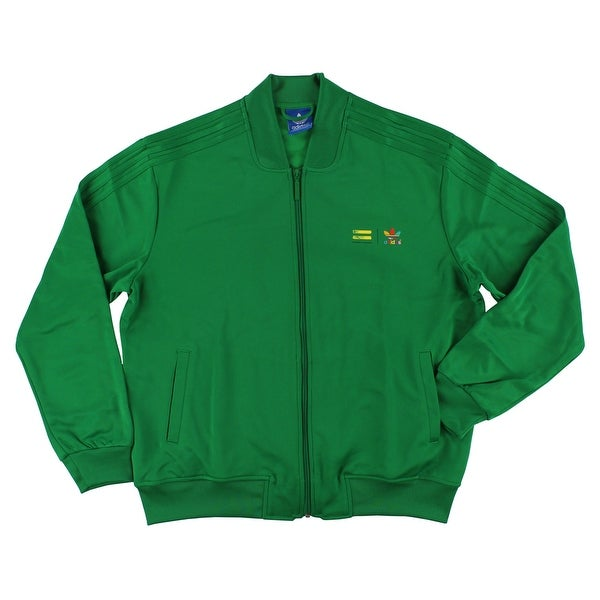 868860a743b4 Shop Adidas Mens Supercolor Track Jacket Green -  green purple red orange teal yellow - XL - Free Shipping Today - Overstock  - 22545178