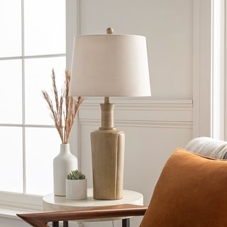"""Link to Lurleane Classic Tan Urn 29.5-inch Table Lamp - 29.5""""H x 14""""W x 14""""D Similar Items in Table Lamps"""