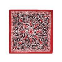 Cotton Grateful Dead Dancing Bear Mandala Bandana Scarf Red White - 22 x 22 inches
