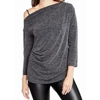 Rachel Rachel Roy Gray Off-Shoulder Women's Size Medium M Knit Top