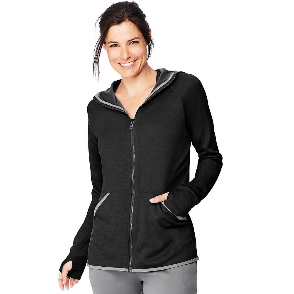 Details about  /Hanes Sport Women/'s Performance Fleece Quarter Zip Pullover
