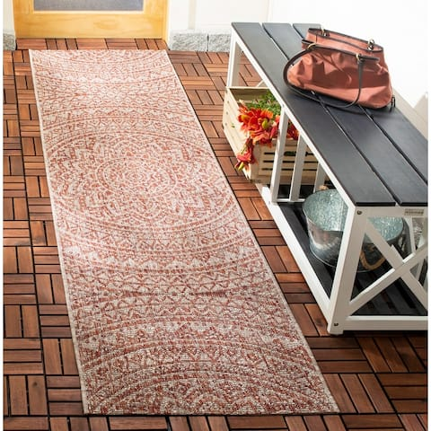 Safavieh Courtyard Fran Mandala Indoor/ Outdoor Rug