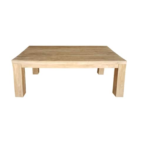 Chic Teak Recycled Teak Wood Marbella Dining Table, 102 Inch