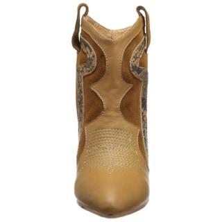 Madison Harding Womens Roger Wedge Boots Leather Snake Print - 7.5 medium (b,m)