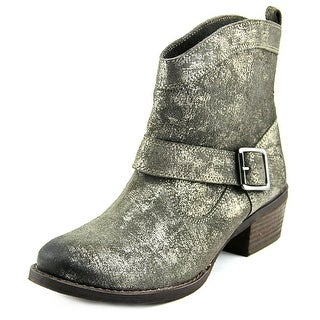 Naughty Monkey Metalicah Women  Round Toe Leather Gray Ankle Boot