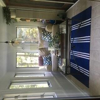 Momeni Veranda Maritime Blue Stripes Indoor/Outdoor Rug (3'9 X 5'9)