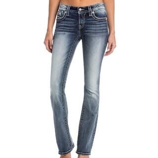 Miss Me Denim Jeans Womens Bootcut Distressed Light Wash