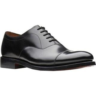 Bostonian Men's Rhodes Cap Toe Oxford Black Leather