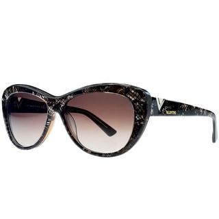 Valentino V628/S 201 Brown Pearl Cateye Sunglasses