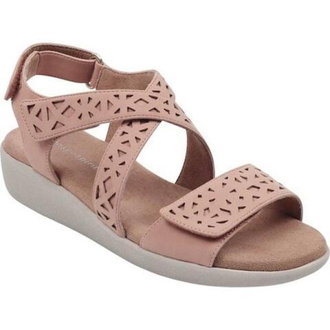 0a98a10483b Easy Spirit Women s Kenzie 3 Strappy Sandal Light Pink Gorgeous Polyurethane