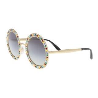Dolce & Gabbana DG2170B 02/8G Gold Round Sunglasses - 51-26-140