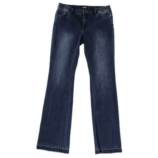 Nanette by Nanette Lepore NEW Blue Womens 6 Perry Frayed Boot Cut Jeans
