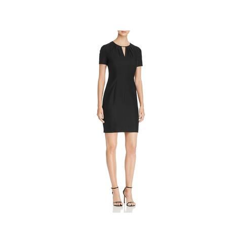 d55e8a473c70 Elie Tahari Womens Lucetta Wear to Work Dress Linen Blend Short Sleeves