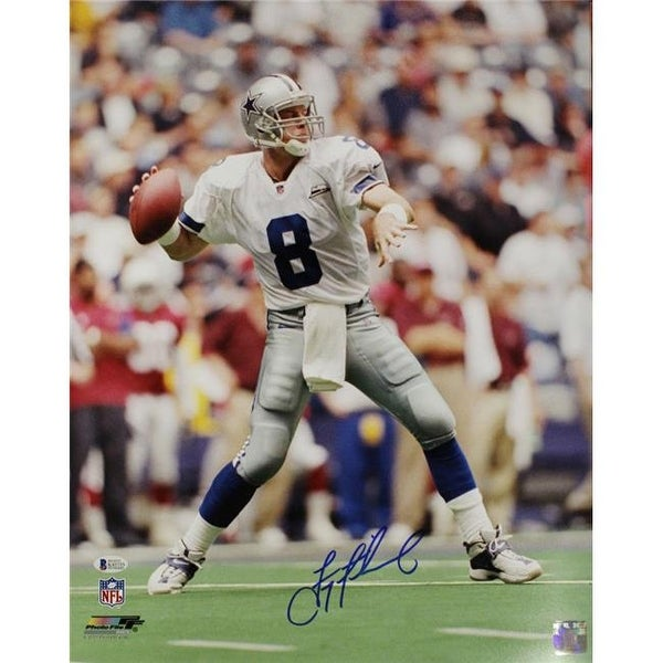 91c508c95d4 Troy Aikman Autographed Dallas Cowboys Solo BAS Photo - Free Shipping Today  - Overstock - 26736551