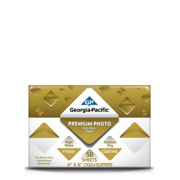 Georgia Pacific 098858 4 x 6 in. Gloss Photo Paper, 50 Count