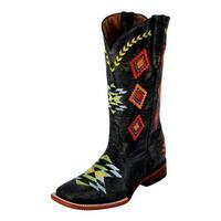 Ferrini Western Boots Womens Arrowhead Lined Distressed Black