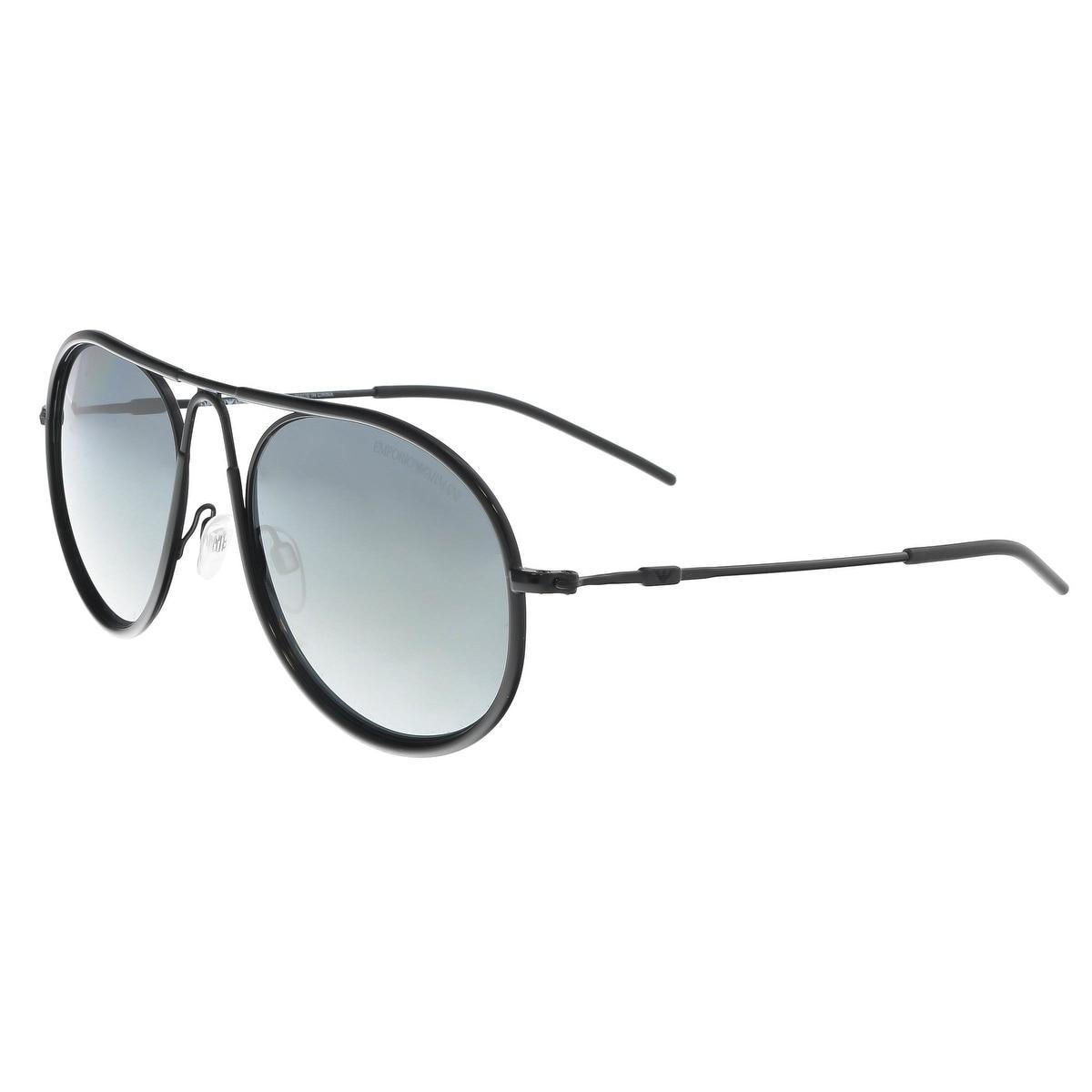 6d49a2ad6d Shop Emporio Armani EA2034 30146G Black Aviator Sunglasses - 54-19-140 -  Free Shipping Today - Overstock - 22355634