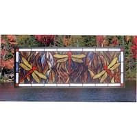 Meyda Tiffany 48091 Stained Glass Tiffany Window from the Prairie Dragonfly Collection - n/a