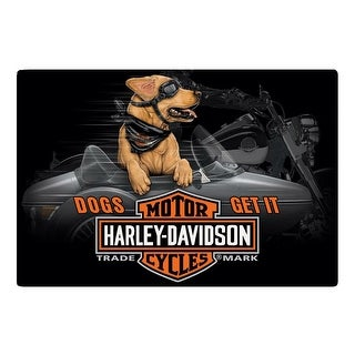 "Harley-Davidson Dogs Get It Embossed Tin Sign, 17 x 11.5 inches 2011311 - 17"" x 11.5"""