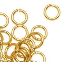 Brass JUMPLOCK Jump Rings 6mm Diameter 18 Gauge Thick (100)