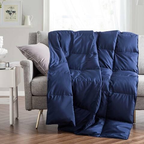Ultra Lightweight 75 Percent Down Blanket