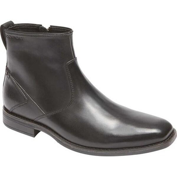 f7b17c2d4 Shop Rockport Men s Traviss Zip Boot Black Leather - On Sale - Free ...