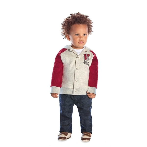 Baby Boy Outfit Hoodie Jacket and Jeans Denim Pants Set Pulla Bulla 3-12 Months
