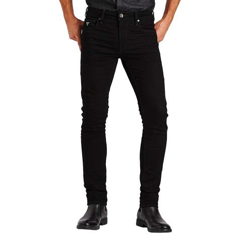 Guess Mens Jeans Black Size 31x30 Skinny Leg Denim Zip-Fly Stretch
