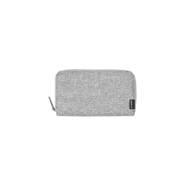 Pacsafe RFIDsafe LX250 - Tweed Grey RFID Blocking Zippered Travel Wallet