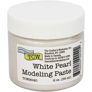 Crafter's Workshop Modeling Paste 2Oz-White Pearl
