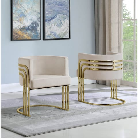Best Quality Furniture Accent Chairs with Gold Base (Single)