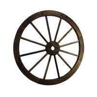 Wooden Wagon Wheel Decorative Wall Hanging Room Decor