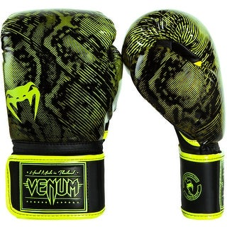Venum Fusion Hook and Loop Training Boxing Gloves - Neo Yellow/Black